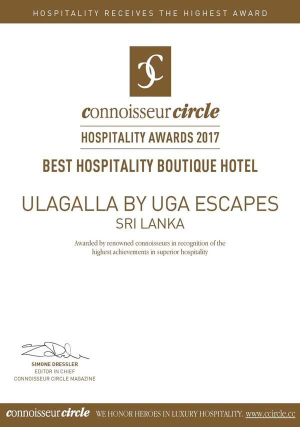 Ulagalla wins 39 best boutique hotel 39 at connoisseur for Best boutique hotels 2017