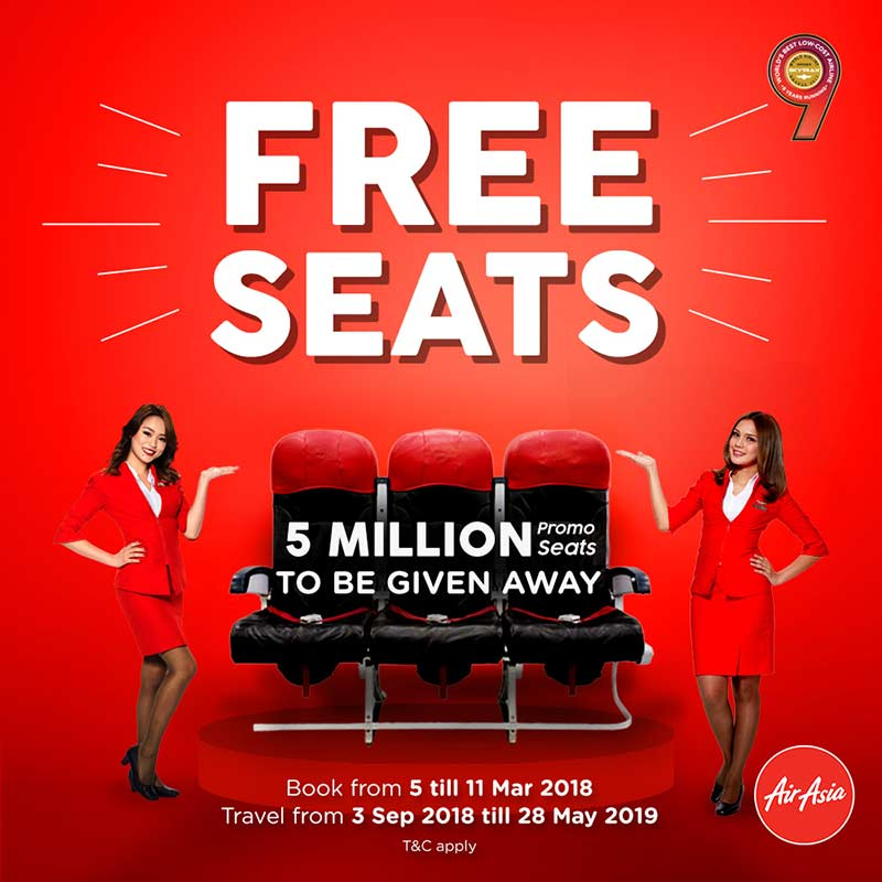 Kick off the new year with AirAsia's Free Seats promo