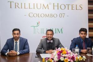 Directors-of-Trillium-Hotels-Rachitha-Ratnayake-and-Lekhya-Ratnayake-with-Chairman-Janaka-Ratnayake-at-center