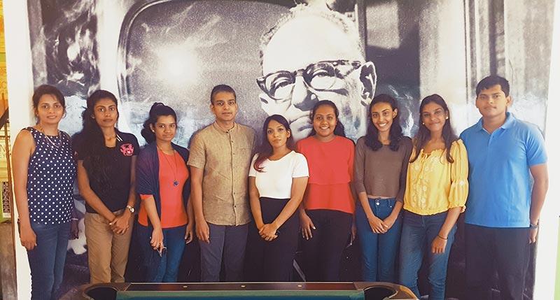 Master class interns with Arosha Perera – CEO, Leo Burnett Sri Lanka and Dilunika Tejwani - Senior Manager, People & Culture, Leo Burnett Sri Lanka