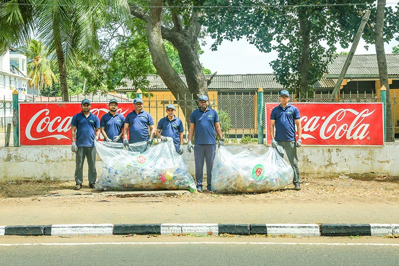 Coca-Cola's Matara Sales Team and PACS Team to collect all discard PET plastic