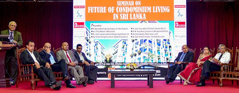 Panel discussion at a seminar organized by the Chamber of Construction Industries