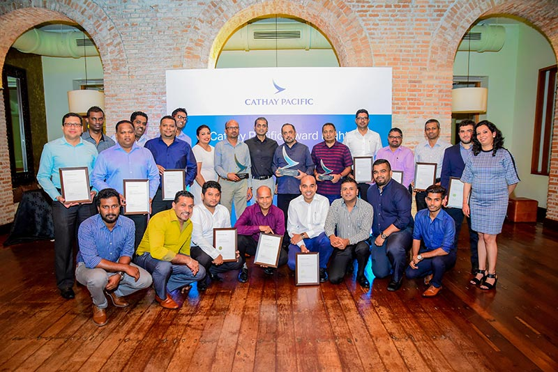 Cathay Pacific Sri Lanka Felicities Top Passenger and Cargo Agents at Awards Night