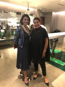 Her Excellency Rita Giuliana Mannella - Ambassador of Italy to Sri Lanka and Maldives, with Susanna Orlando - Founder of Galleria Susanna Orlando