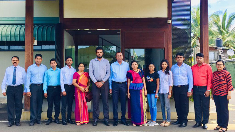 Ms. Samanthika Jayasuriya, Principal of the School for the Deaf and Blind in Ratmalana (Sixth from the right) with the scholarship recipients of the school pose for a  picture  with Mr. Thilanka de Zoysa, Convenience Foods (Lanka) PLC Managing Director (Seventh from the left) and CFL officials. Also in the picture is Ms. Manique Gunaratne -Manager – Specialized Training & Disability Resource Center of the Employers' Federation of Ceylon.