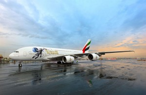 'UAE in Space Livery' makes its operational debut