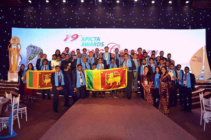 The Sri Lankan delegation including Winners and representatives from the BCS, the Charted Institute for IT Sri Lanka section and FITIS