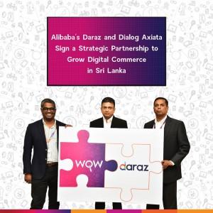 (L-R) Rakhil Fernando – Managing Director of Daraz Lanka, Supun Weerasinghe – Group Chief Executive of Dialog Axiata PLC and Dr. Nushad Perera – Chief Digital Services Officer of Dialog Axiata PLC