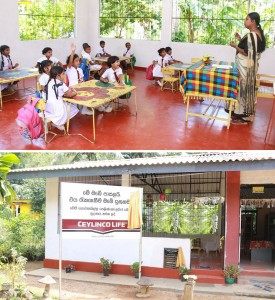 The classroom donated by Ceylinco Life to the Mahakalupahana Junior School in Mathugama.