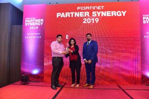 Millennium I.T.E.S.P Private Limited receiving the award for Best Partner – Gold