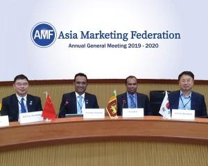 From left to right Mr.Jack Yao, Mr.Pradeep Edward, Mr. Rohan Somawansa, and Mr. Boojong Kim