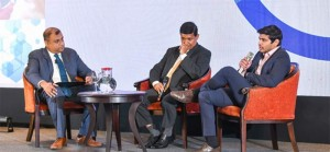 Harsha Randeny (left) leading the panel discussion with members of the Microsoft Partner Community