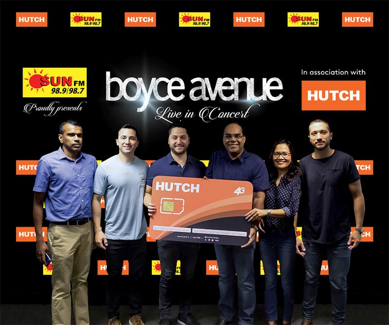 SUN FM proudly presents Boyce Avenue Live in Colombo in Association with HUTCH