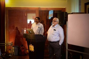 Syntrex Global Technologies (Pvt) Ltd Director Manoj Mohinani addressing the gathering