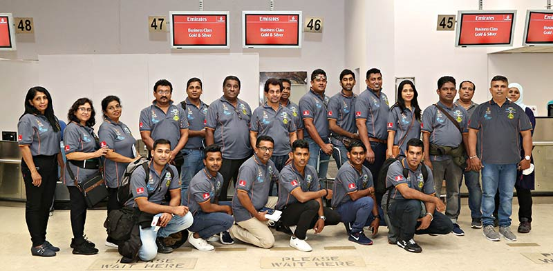 The team of chefs at the check in counters of the Bandaranaike International Airport.