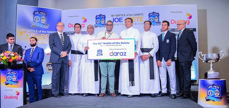 Daraz partnered the 86th Battle of the Saints as Official Shopping Partner. Managing Director of Daraz Lanka hands over the sponsorship Rev. Fr. Ranjith Andradi – Rector, St. Joseph's College and Rev. Fr. Rohitha Rodrigo – Rector, St. Peter's College.Also present are Michael Elias – Joint Organizing Committee Member, St. Peter's College, Rev. Fr. Milan Bernard – Sports Coordinator, St. Peter's College, Rev. Fr. Priyan Tissera – Prefect of Games, St. Joseph's College, Johanne De Zilwa – Captain, St. Joseph's College and Terrance Fernando – Joint Organizing Committee Member.