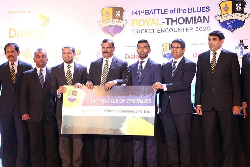 ikman sponsors the 141th 'Battle of the Blues' as the official e-Commerce partner. Handing over the sponsorship is Shaif Mohamed, Director Operations and Elmo Shanmugam, Marketing Manager to Principal of Royal College and acting warden of S.Thomas' college