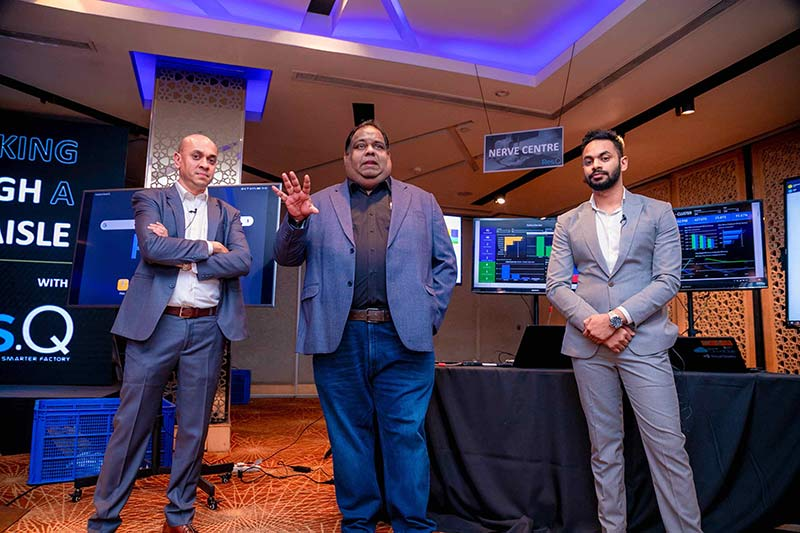Thushitha Kularatne, Head of Business Solutions, H One, Samath Fernando, CEO, H One and Dilshan Chiththananda, Manager, Business Development, H One