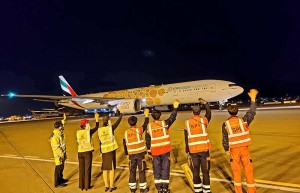 Emirates' outstation airport teams from Seoul devotedly sent off their last passenger flights before the suspension took effect.