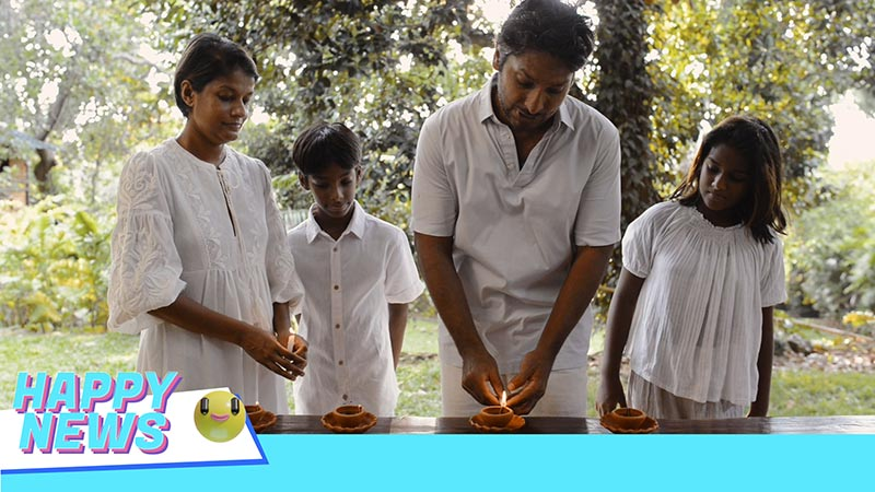 Happy News and Kumar Sangakkara appeals to the viewers to light four lamps this Vesak for the heroes of Covid-19