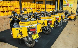 LAUGFS Gas Distributes Specially Designed Motorbikes to its Home Delivery Dealers
