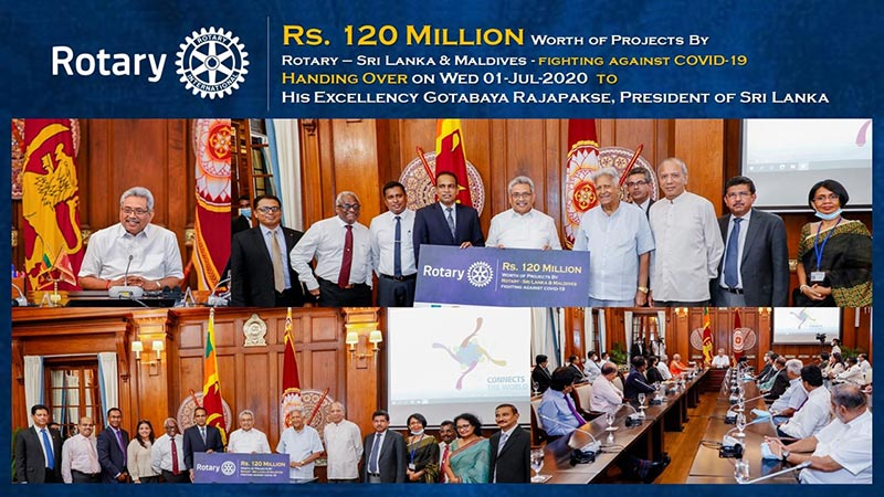 ROTARY SUPPORTS WITH 120 MILLION WORTH PROJECT TO COMBAT COVID-19