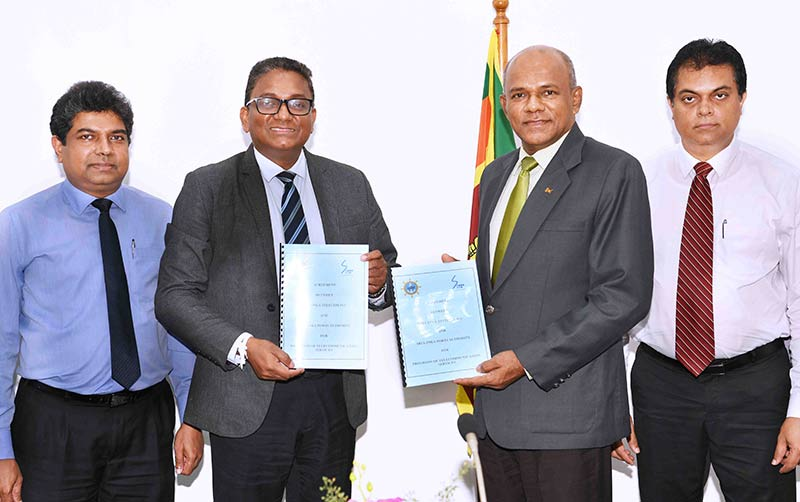 From left: Mr. Janaka Abeysinghe (Chief Enterprise & Wholesale Officer/SLT), Mr. Kiththi Perera (CEO/SLT), Gen. Daya Ratnayake (Chairman /SLPA) , Mr. W.S. Weeraman (MD/SLPA)