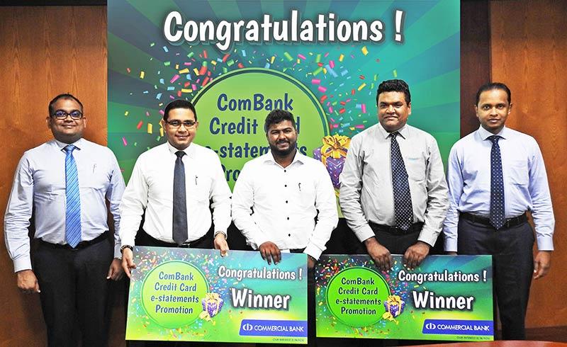 ComBank presents grand prizes to e-statement promo winners