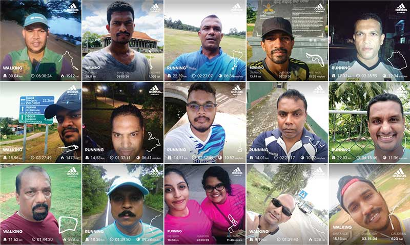 A cross section of the Allianz Lanka team members who participated at the recently concluded fifth edition of the Allianz World Run.