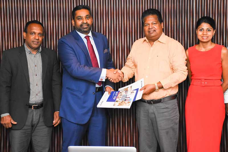 (From Left to Right) Chaminda Wanigaratne - Director Automotive at Ideal Motors Pvt Ltd., Gany Subramaniam - Director/CEO of Allianz Insurance Lanka Limited, Nalin Welgama - Chairman of Ideal Group, Nimisha Welgama, Director - Legal and Corporate Affairs - Ideal Group.