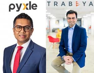 Pyxle Founder and Chairman and Executive Director Presantha Jayamaha and Trabeya CEO Sanjay Popat