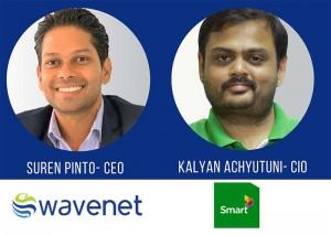 Digital Transformation World Series 2020 - Panel Speakers, Kalyan Chyutuni, CIO at Smart Axiata Cambodia (left) and Global  Wavenet CEO, Suren Pinto (Right)