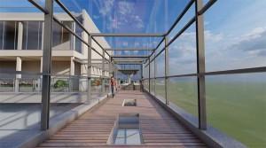 POV visual interpretation of the completed sky bridge