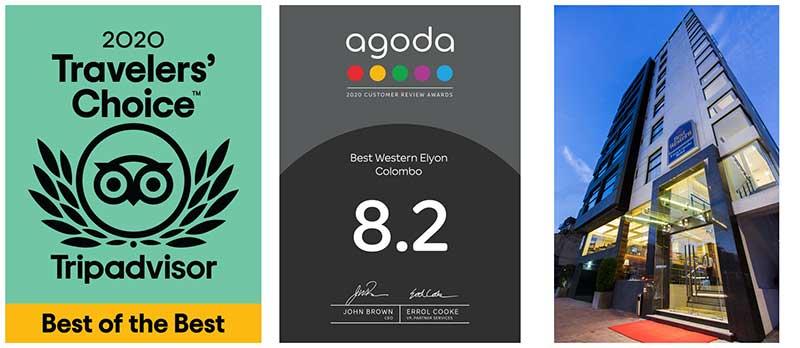 Best Western Elyon Colombo celebrates dual TripAdvisor and Agoda Awards