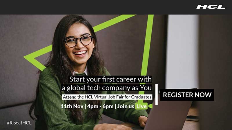 HCL Technologies to hold Virtual Job Fair on November 11, 2020