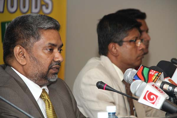 Country Manager, Kalbe International PTE Ltd.Sudarshana Jayatillaka, Addressing media at the launch