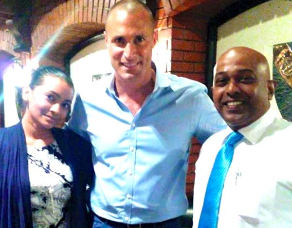 Nigel Barker with Dana and Deen from E FM