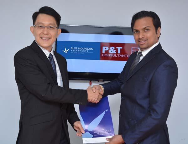 Dr. Hiran Hettiarachchi (MBBS-Colombo, MBA-Australia),  Group Chairman, Blue Mountain Group of Companies and Richard Soon, Director, P&T Group Singapore (1)