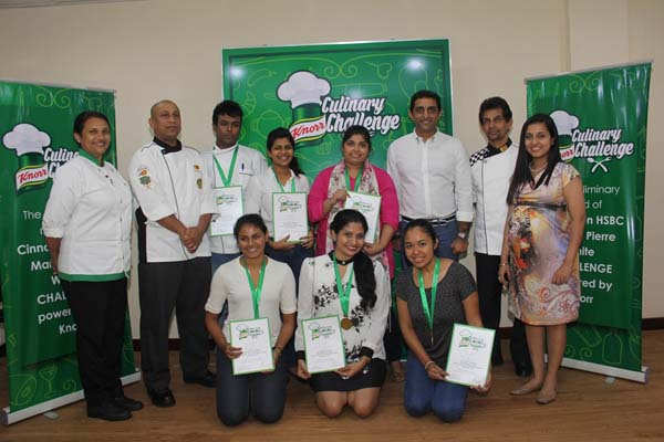 sts who made it to the final round with the panel of judges and Shamara Silva, Category Head Core Foods, Unilever Sri Lanka.
