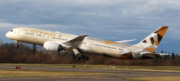 Etihad Airways' Boeing 787 set to fly to five further destinations in 2016