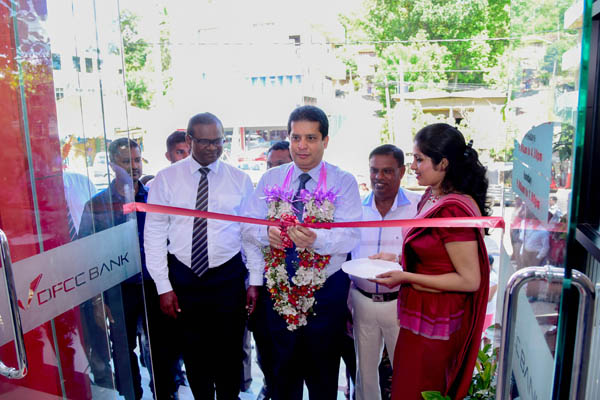 Lakshman Silva -DCEO ,DFCC Bank opening the branch