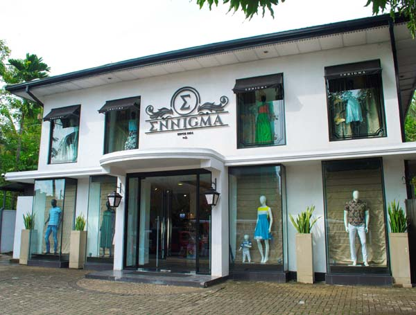 The Elegant Exterior of the Ennigma Store in Rajagiriya