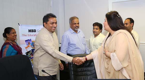 PHOTO – Education Minister Hon Akila Viraj Kariyawasam with Ms. Monica Malhotra Kandhari, Managing Director of MBD Group