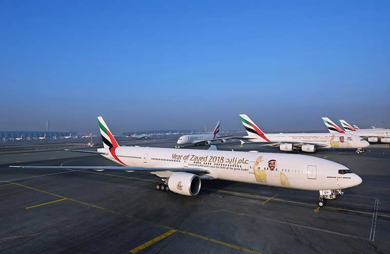 Emirates-aircraft-adorned-with-the-_Year-of-Zayed_