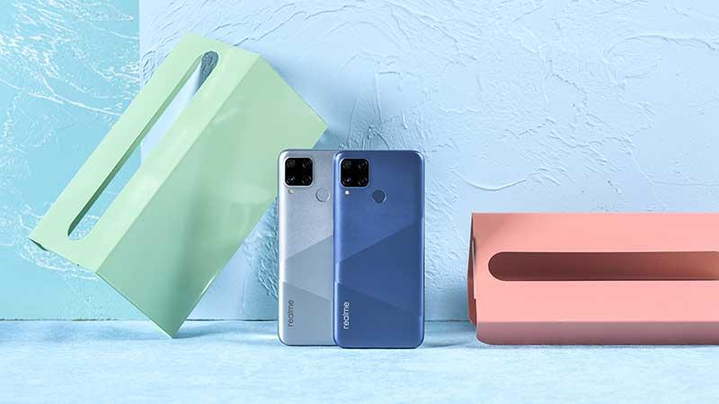 realme-C15—Silver-and-Blue