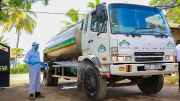 Pelwatte-Dairy-Collection-Trucks-being-Sanitized